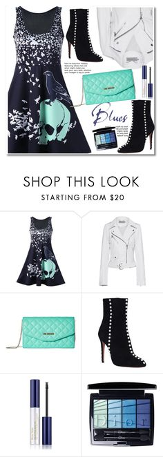 """""""Life's beautiful with dress"""" by lula-l ❤ liked on Polyvore featuring Calvin Klein Jeans, Love Moschino, Aquazzura, Estée Lauder and Christian Dior"""