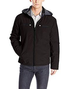 Kenneth Cole REACTION Men's Softshell Moto Jacket with Hood $23 (Reg $150)