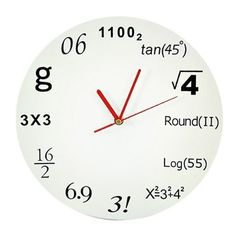 Novelty Pop Quiz Geek Math Mathematical Wall Hanging Clock Great For Design Decor Living Room by R.O.M, http://www.amazon.com/dp/B00BS403LI/ref=cm_sw_r_pi_dp_ACxSrb0DRDHHM
