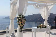 Wedding planners #simplymediterraneanweddings.co.uk  Floral design #anna Santorini's Flowers  Venue #Le Ciel