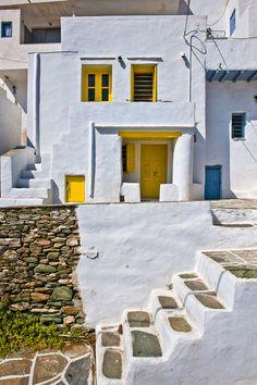 Serifos Island, Greece by Michel Bricteux, via Mykonos, Santorini Villas, Paros, Beautiful Buildings, Beautiful Places, Ontario, Greek Design, Mediterranean Architecture, Greece Islands