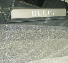 Flowcrete's decorative seamless terrazzo flooring, Mondéco, in-situ outside Gucci at Westfields, London