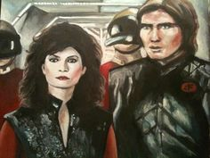 """Artwork from V The Series (1984-1985) """"Diana and James"""" feat. Jane Badler and Judson Scott"""