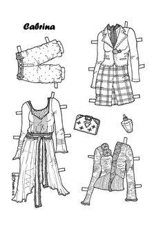 Damer. Påklædningsdukker til at farvelægge. Paper Dolls to colour. - Karen Bisgaard Petersen - Picasa Web Albums
