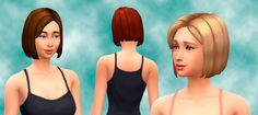 The Sims 4   My Stuff: Converted base game Children Hairs Sideswept Hairstyle for Female Adult