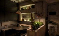 Munich Restaurant - This moody Munich restaurant was designed to resemble an industrial laboratory. Located inside a residential house in the Bavarian city, Ferdings B...