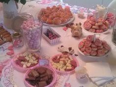 """particolare tavolo """"i miei 40 anni"""" tea party"""