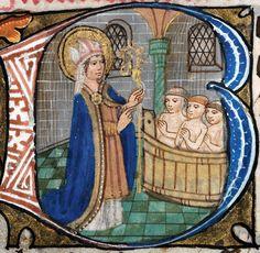 [Priflythyren: Niclas Sant] (f. 57) Book of Hours 'De Grey', 15th century.