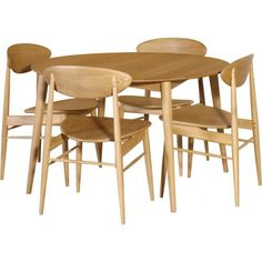 S Retro Oak Round Dining Table Set With Vibrant Style