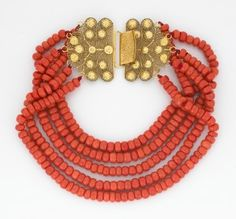 antique coral choker necklace