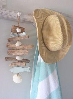 driftwood shell garland beach house decor