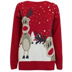 Damen Weihnachtspullover Rudolph; Pullover