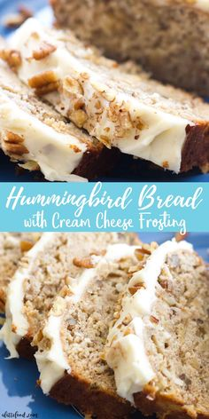 This easy hummingbird bread recipe is full of the flavors of the classic southern hummingbird cake! This simple quick bread recipe is filled with sweet flavor, and is topped with the best cream cheese frosting! Hummingbird Bread with Cream Cheese Frosting Best Bread Recipe, Quick Bread Recipes, Sweet Recipes, Simple Bread Recipe, Quick Dessert Recipes, Easy Simple Desserts Quick, Quick Easy Desert, Sweet Bread Loaf Recipe, Easy Fall Desserts