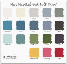 You asked..and I responded. I am delighted to add a new color palette to Colorways: Miss Mustard Seed Milk Paint. With 18 fabulous colors and a rumored 3 more coming this winter, Miss...