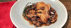 Chicken Scaloppine with Red Wine Mushroom Sauce