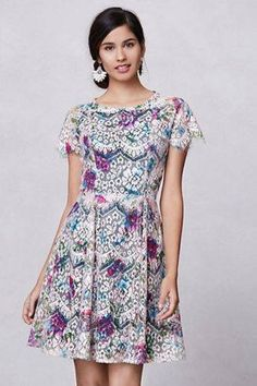 Anthropologie Lacepaint Flared Dress 0 Selling for $200
