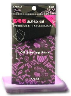 Kracie (ex Kanebo) Petit Moi Japanese Oil Blotting Papers with Natural Flax Powder - 80 sheets