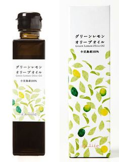 Packaging design of olive oil produced by Japanese brand I& Life. Olive Oil Packaging, Cool Packaging, Tea Packaging, Beverage Packaging, Bottle Packaging, Cosmetic Packaging, Brand Packaging, Packaging Design, Branding Design