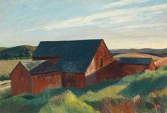 Cobb's Barns, South Truro. Óleo sobre lienzo. 87.2 × 127.2 cm. Imagen