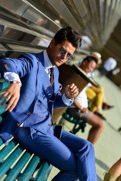 """ Frank Gallucci, At ease, Men's street style, Pitti Uomo """