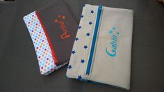 By Maman Superbesse Diy Pour La Rentrée, Creation Couture, Craft Bags, Couture Sewing, Pouch, Wallet, Diy Gifts, Notebook, How To Make