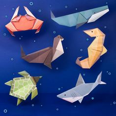 Origami Shark, Fun Origami, Useful Origami, Origami Dragon, Paper Crafts Origami, Easy Oragami, Origami Turtle, Simple Origami, Origami Ideas