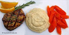 Gourmet Girl Cooks: Grilled Lemon Rosemary Chicken & Parmesan Cauliflower Mash