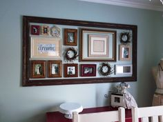 Framed frames for dining room wall