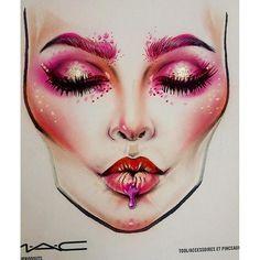 Sergey X on Instagram | webgram.co                              … Catwalk Makeup, Fx Makeup, Makeup Goals, Makeup Inspo, Makeup Inspiration, Beauty Makeup, Facechart Mac, Facechart Makeup, Maquillage Halloween