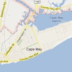 Cape May, NJ, the southernmost point in NJ. CM is an island.