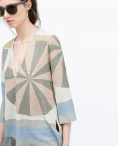 Image 3 of PASTEL PRINT TUNIC from Zara