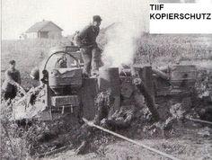 A második világháború Képek Részletek: Tiger # 332 elakadt a sárban (Recovery Training)