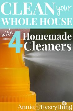 Clean Your WHOLE HOUSE with Four Homemade Cleaners