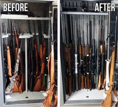 Clearly this safe was quite full and not all guns would fit on the ...