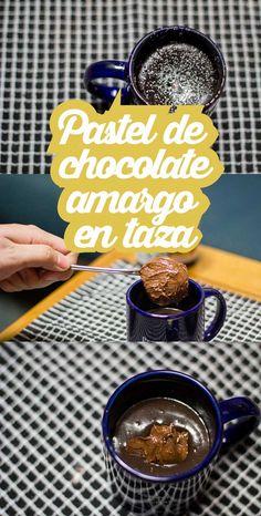 #Receta: Pastel de chocolate amargo en taza y preparado en #microondas  http://www.upsocl.com/comida/pastel-de-chocolate-amargo-en-taza-y-preparado-en-microondas/