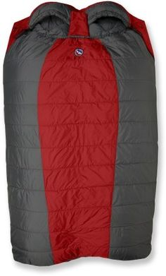 I would LOVE to own this sleeping bag. I'm a cuddler:) My only question would be how far down does the zipper go on the side   REI- Big Agnes Cabin Creek +15 Sleeping Bag - Double