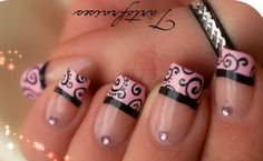 black french nail designs - Google Search