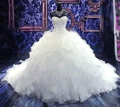 New 2014 White/Ivory Wedding Dress Custom size 2 4 6 8 10 12 14 16 18+++
