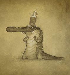 Image result for medieval alligator drawings