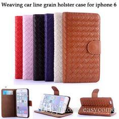 Iphone 6 6plus IPhone 5S Cases Fashion Woven Weave Weaving Knit Leather Card Slot Stand Purse Leather Pouch Case Phone Bag Pink Case from Easycome,$4.09 | DHgate.com