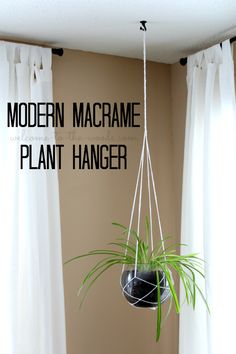 Living Room Makeover Spring Home Decor - Welcome to the WoodsHow to make a modern macrame plant hanger using string & a fish bowl. This is such a simple and beautiful idea for displaying greenery in your home.