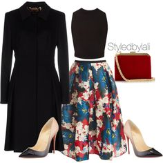 A fashion look from November 2015 featuring Thierry Mugler tops, ESCADA coats and Erdem skirts. Browse and shop related looks.