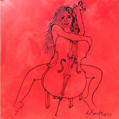 Anton Alberts Chello Acrylic 1000 x 1000 Anton, Cello, Cellos