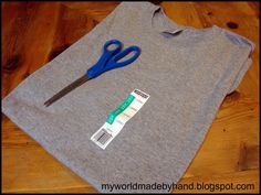 My World - Made By Hand: How to make a no sew infinity scarf from a t-shirt
