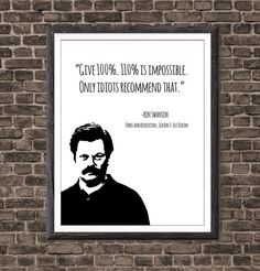 Parks and Recreation Ron Swanson Quote Poster Parks and Recreation Quote Print, TV Quote Print, Quote Print, Office Decor Parks And Recreation, Parks And Rec Quotes, Parks N Rec, Tv Quotes, Movie Quotes, Life Quotes, Funny Quotes, Funny Memes, Quote Posters