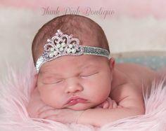 Bebé de diadema Headband de Princesa Tiara Tiara por ThinkPinkBows