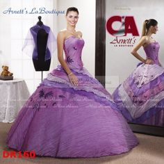 Elegant ball gown strapless Floor-length lilac Quinceanera Gown - Elegant Quinceanera Dresses