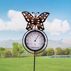 décoration originale de jardin avec thermomètre. Vos proches et vos amis vont halluciner devant le design et l'originalité de cette décoration d'extérieur aux meilleurs prix.
