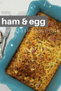 EASY HAM & EGG BREAKFAST CASSEROLE + enter to win a $25 gift card to Save-A-Lot food stores! #ad #holidaysmadeeasy #savealotinsiders