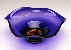 Dichroic Amethyst Bowl: Janet Nicholson, Rick Nicholson: Art Glass Bowl | Artful Home